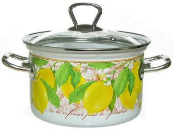 Кастрюля 2л Lemon цилиндр.