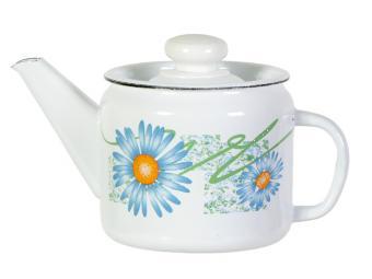 Чайник 1л эмалированный декорированный