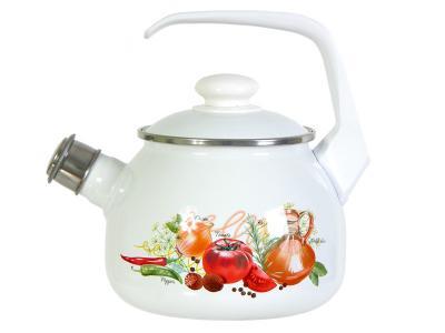 Чайник 2, 5л со свистком Итальянская кухня Стэма, Лысьва С-2711АП/4