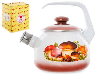Чайник ''Грибы'' со свистком 2,5л