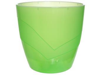 Кашпо Грация 2,8 л прозрачн-зеленый