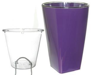 Кашпо Грейс с фитильным поливом d12 фиолетовое