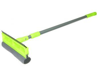Окномойка ''Умничка'' 20см с телескоп.ручкой, длина 95см, зеленая