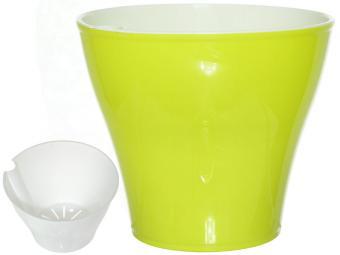 Кашпо Афина 1л со вставкой лимон