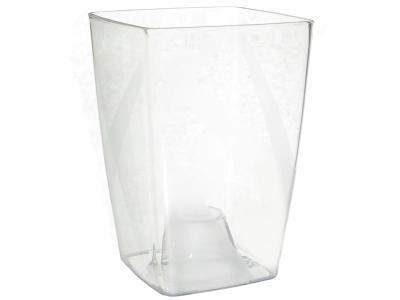 Кашпо Сильвия (прозрачный) PLAST AVENU