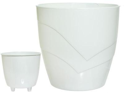 Кашпо Грация 2, 8л белое PLAST AVENU