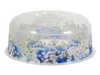 Крышка для СВЧ 25см Голубые цветы