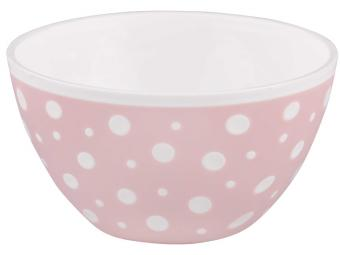 Салатник ''Горошек'' 1,45л бело-розовый