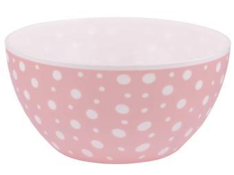 Миска ''Горошек'' 2л бело-розовый