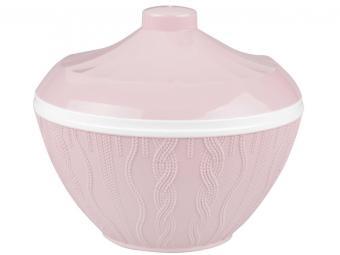 Салатник 1,45л с крышкой ''Меланж'' (розовый)