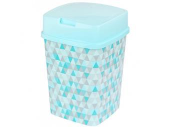 Контейнер для мусора ''Пирамида'' 8л квадратный (голубой)
