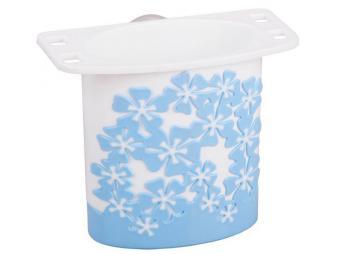 Подставка для зубных щеток Камелия бело-голубая малая