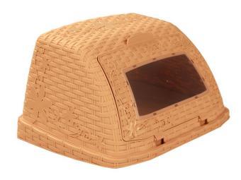 Хлебница Плетенка коричневая