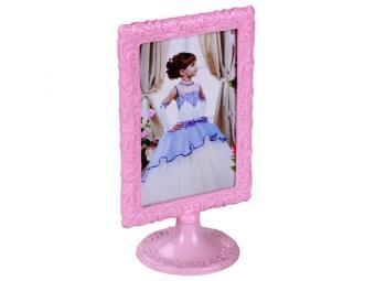 Рамка для фото 10*15 Ажур розовая