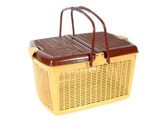 Корзина для пикника коричневая