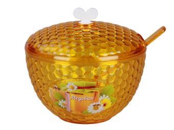 Емкость Мозаика люкс с ложкой Мёд 0,65л