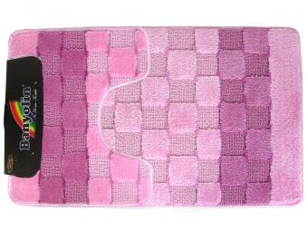 Коврик BANYOLIN SILVER 2шт 50*80/50*40см (розовый)