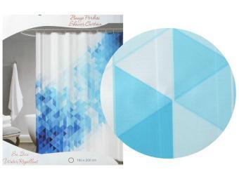 Штора для ванной комнаты Tropikhome DIGITAL PRINTED 180*200 Blue Squares