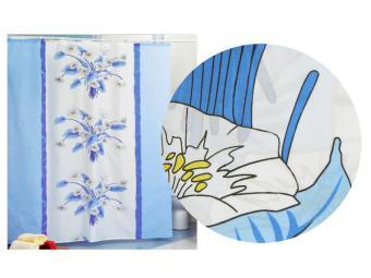 Штора для ванной Голубые лилии MIRANDA