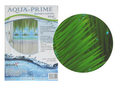 Штора для ванной Пальмы на песке AQUA-PRIME 180*180см