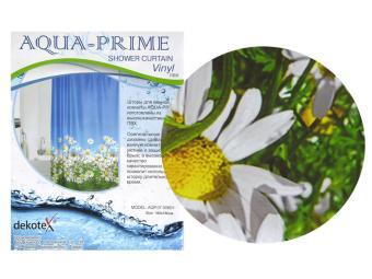 Штора для ванной AQUA-PRIME 180*180 Ромашка