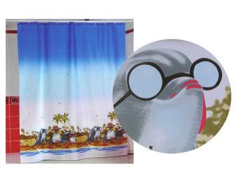 Штора для ванной комнаты MIRANDA Пляж дельфинов