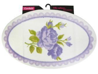 Коврик Confetti Bella овальный 66*107см ROSA (пурпурный)