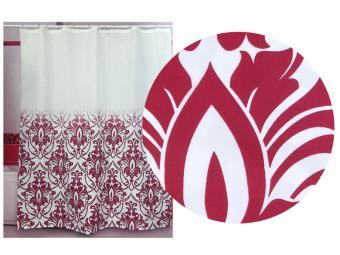 Штора д/ванной комнаты MIRANDA (красный)