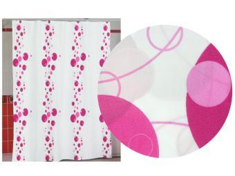 Штора д/ванной комнаты MIRANDA (розовый)