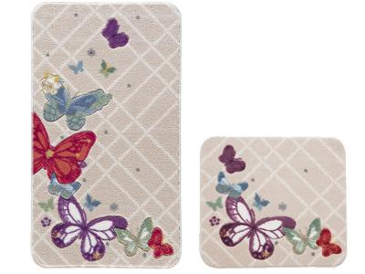Коврик Confetti Bella 57*100см 2шт BUTTERFLY PLAID (красный)