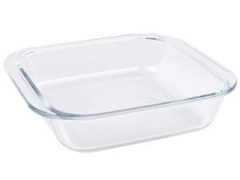 Форма для запекания стеклянная 1,8л квадратная