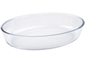Форма для запекания стеклянная 2,4л овальная