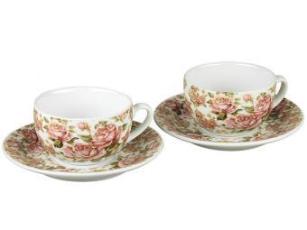 Чайный набор на 2 персоны Корейская роза