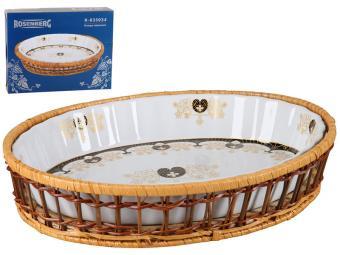 Блюдо для запекания 1,2л в корзинке Праздничное R-035034