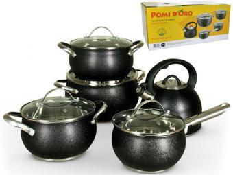 Набор посуды 4пр нерж с покрытием Santa 440237