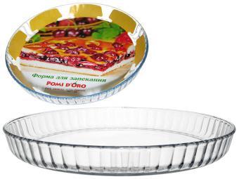 Форма для запекания 2л круглая стеклянная Pomi d'Oro