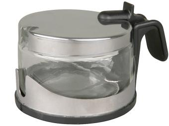 Сахарница стеклянная с нерж крышкой 200мл