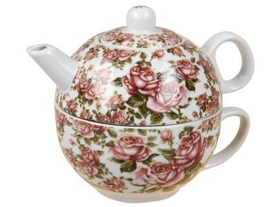 Чайник и чашка Корейская роза