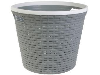 Емкость для хранения 15л Ротанг серый без крышки