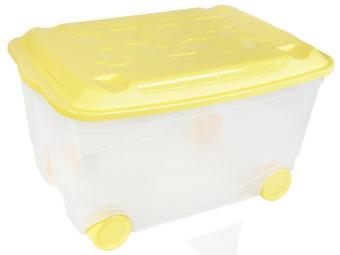 Ящик для игрушек 58*39*33,5см на колесах (бесцветный)