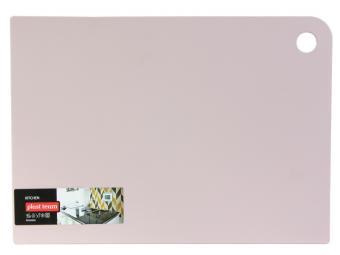 Доска разделочная GROSTEN прямоугольная 345*245*2мм (пудровый)