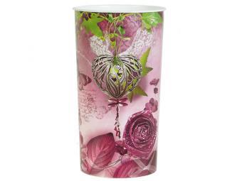 Ваза для цветов пластик Романтика 14,6см