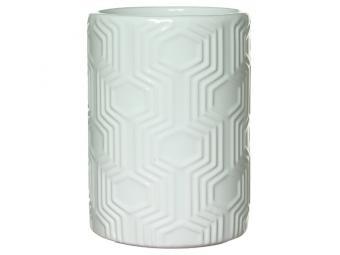 Стакан для ванной Белый Цилиндр (керамика)
