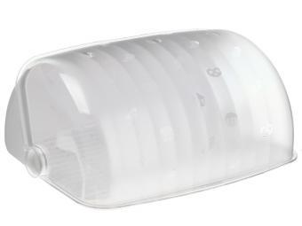 Хлебница Санти (белый мрамор, полупрозрачный пластик))