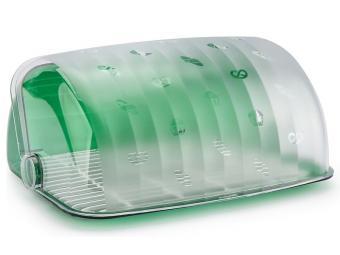 Хлебница ''Санти'' зеленый полупрозрачный пластик Беросси