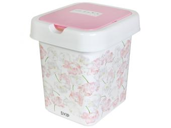 Контейнер для мусора 9л декор ''Цветы''