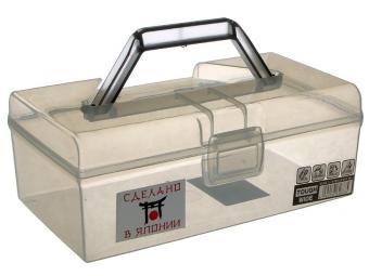 Контейнер 1,6л для хранения 22,4*13,3*8,6см с ручкой (серый)