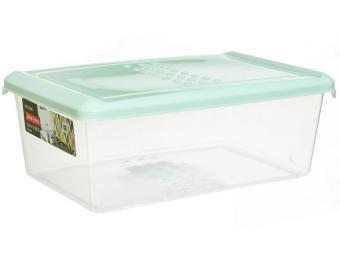 Емкость для хранения продуктов 1,05л PATTERN прямоугольная (мятный)