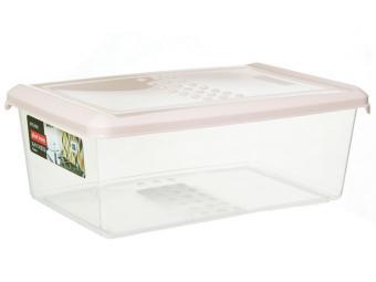 Емкость для хранения продуктов 1,05л PATTERN прямоугольная (пудровый)