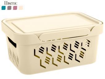 Ящик DELUXE 4,6л универсальный с крышкой